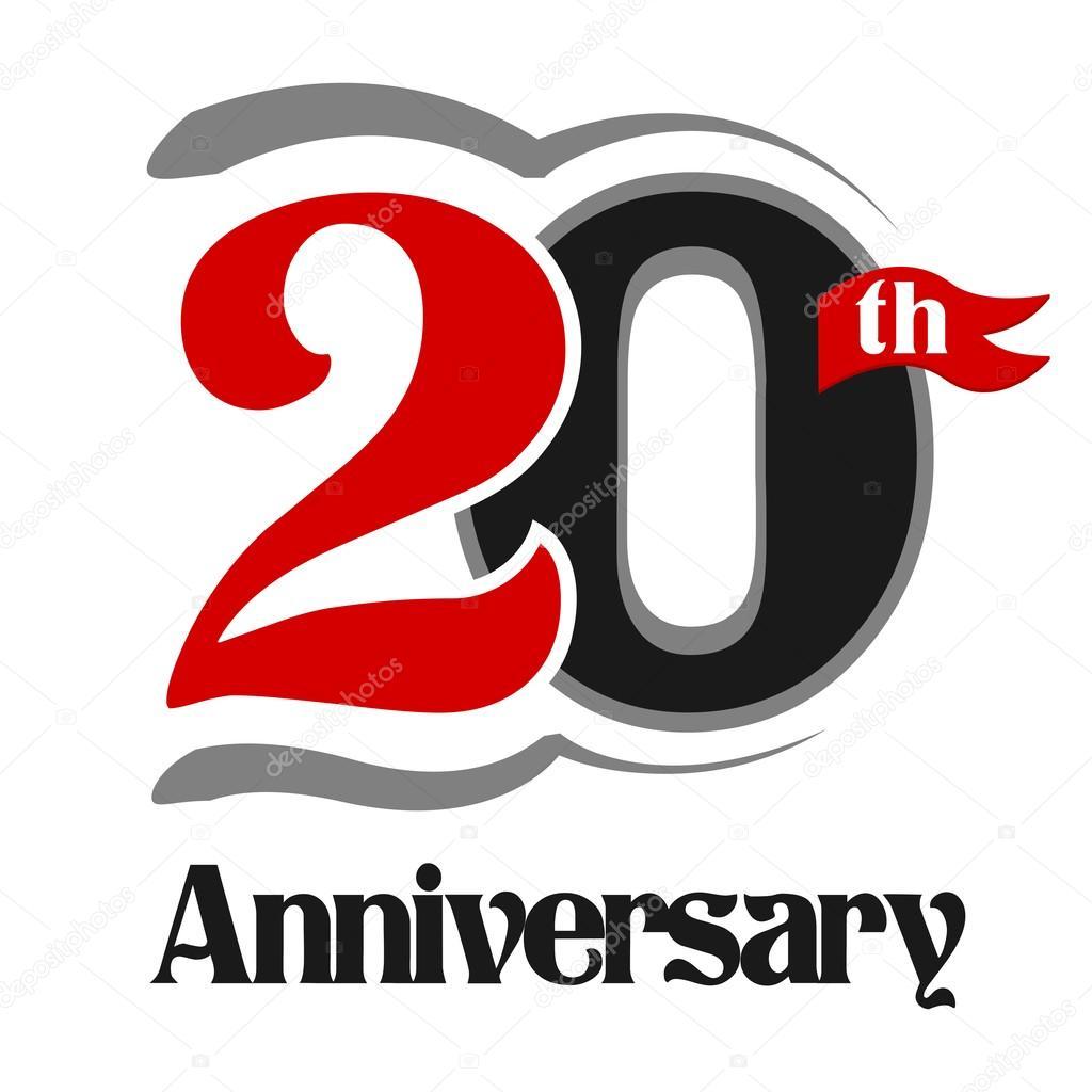 20th Anniversary Celebration Vector Logo