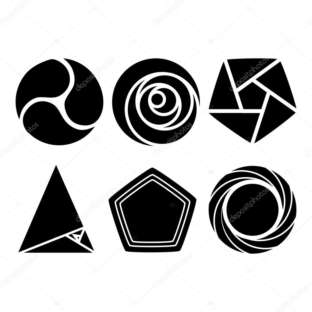 Geometric Forms - Round And Triangular Geometric Shapes