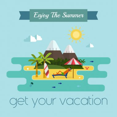 Tropical Island Vacation Postcard
