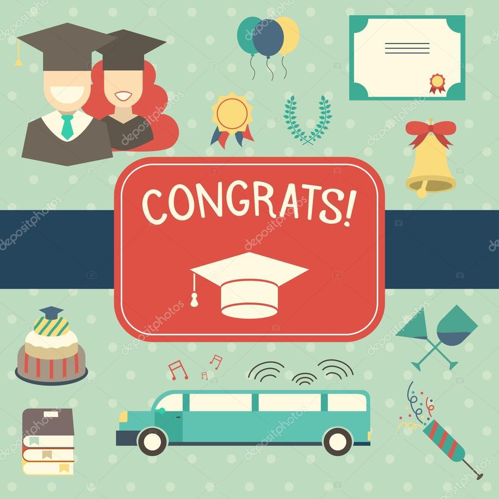 graduation invitation or certificate. — Stock Vector © krugli86 ...