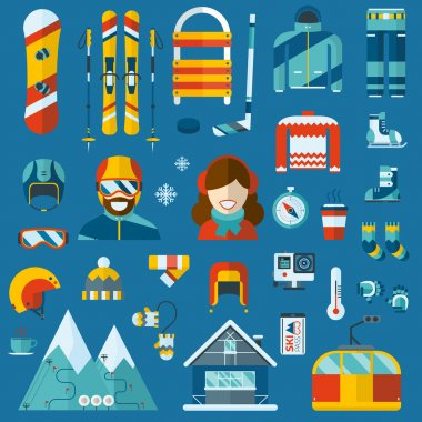 Winter Activity Icon Collection