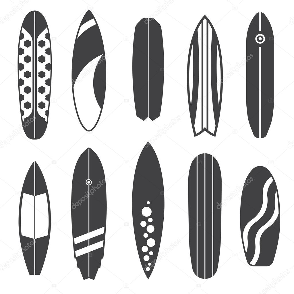 outline surfing board icons stock photo krugli86 gmail com