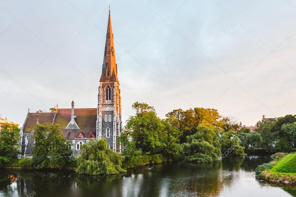 St. Alban's Church at Golden Hour Time