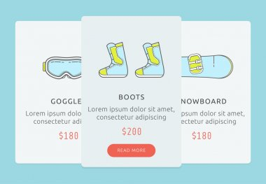 UI for showboarding store