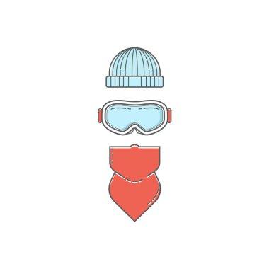 Snowboarding, ski gear