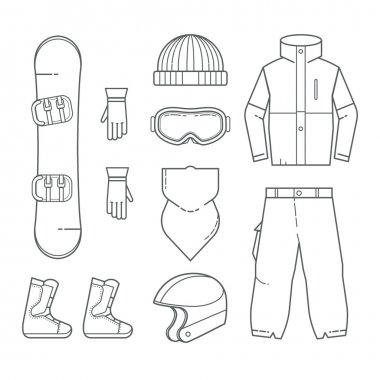 Clothing and accessories for snowboarding
