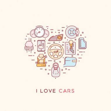 The composition of automotive icons