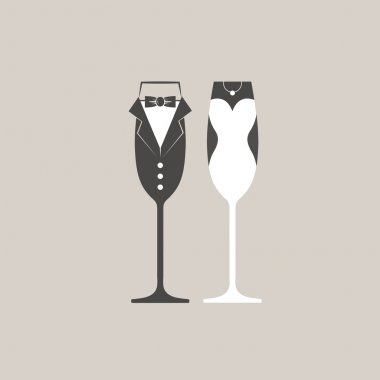 Wedding retro illustration
