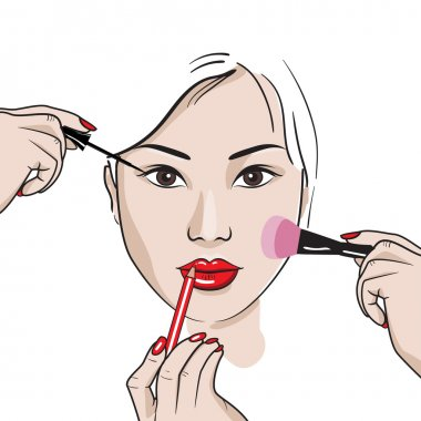 Makeup for Asian type of face.