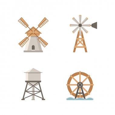 Icons flat mills