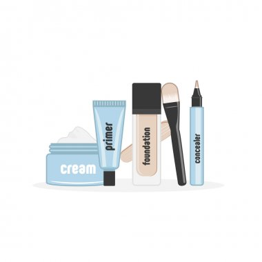 Vector illustration of cosmetic packaging