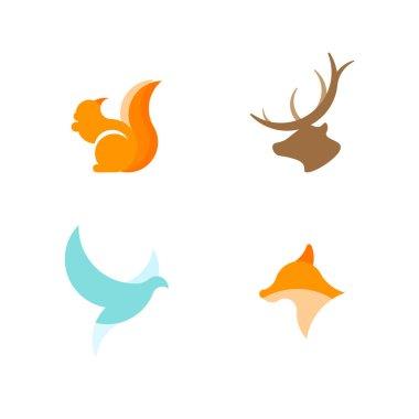 Set of vector logotypes.