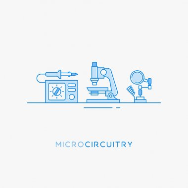 Icons for micro-circuitry.