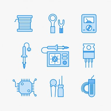 Nine line icons
