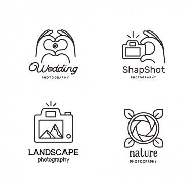Elements for photographer logos.