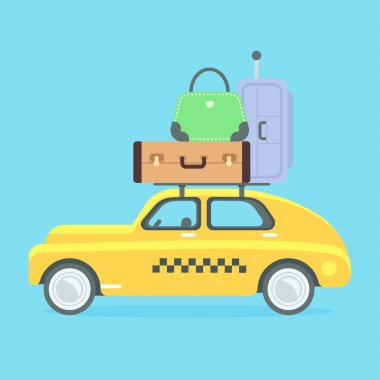 Taxi vector illustration.