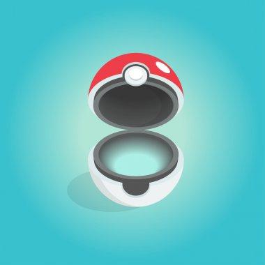 Vector icon of the pokemon ball.