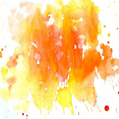 Color Watercolor abstract pattern on a white background, splashes.
