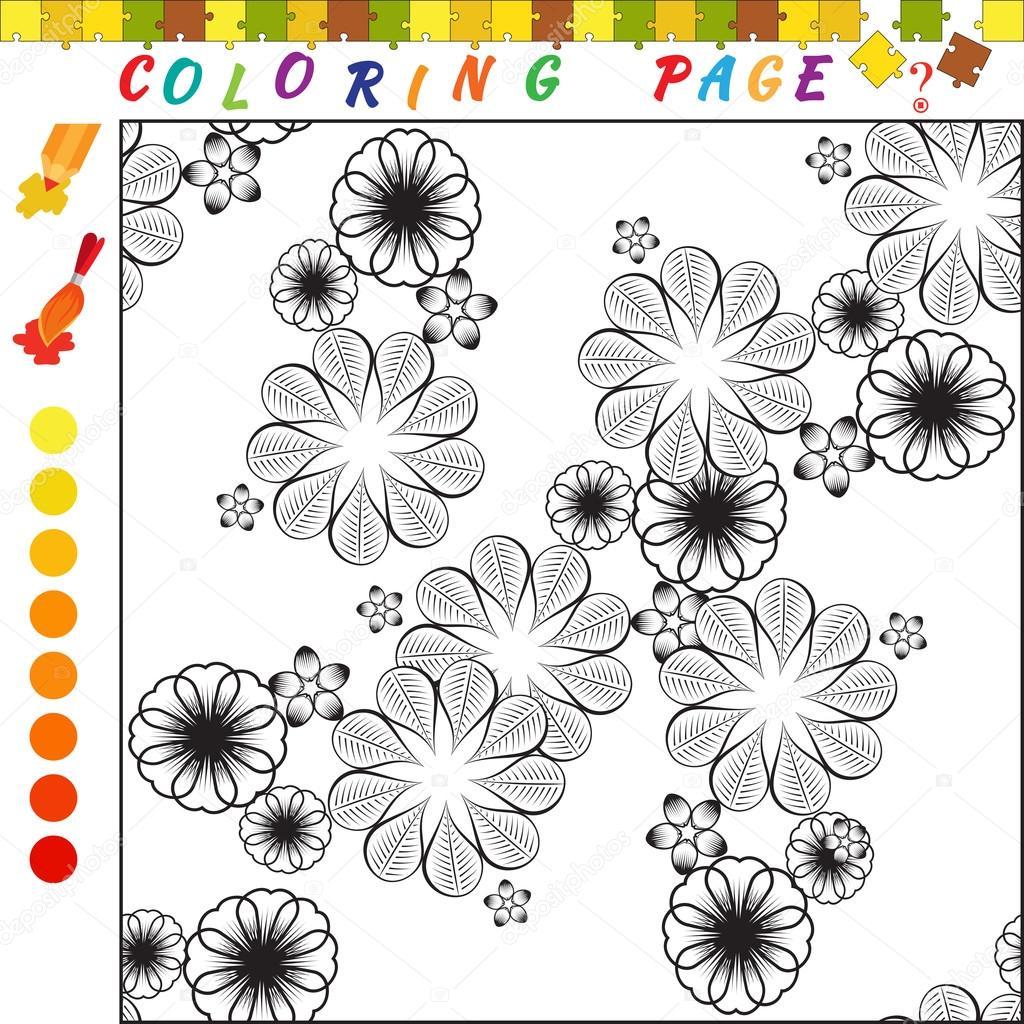 Libro De Colorear Para Ninos Ilustracion De Contorno Para Colorear
