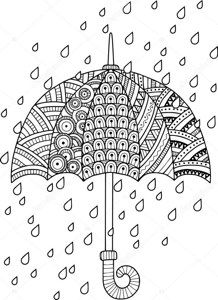 Me encanta la lluvia de otoño — Vector de stock © natasha-tpr #105460454