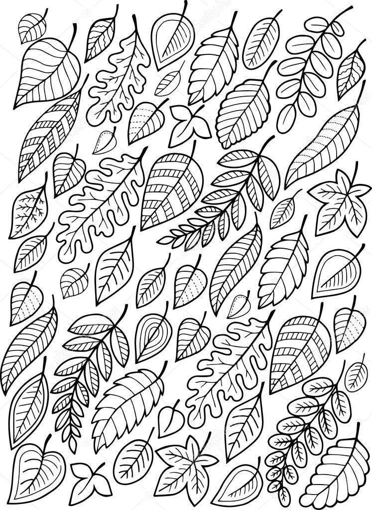 vallende bladeren de herfst stockvector 169