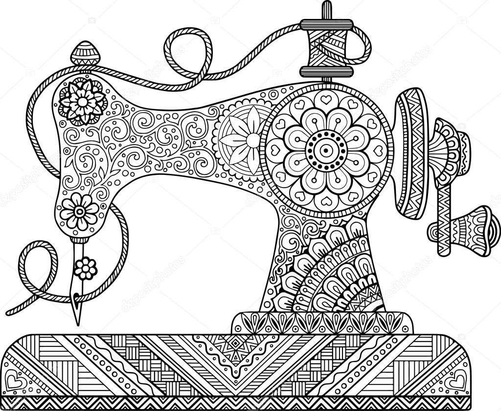 Vector Maquinas De Coser Para Dibujar Máquina De Coser Vintage