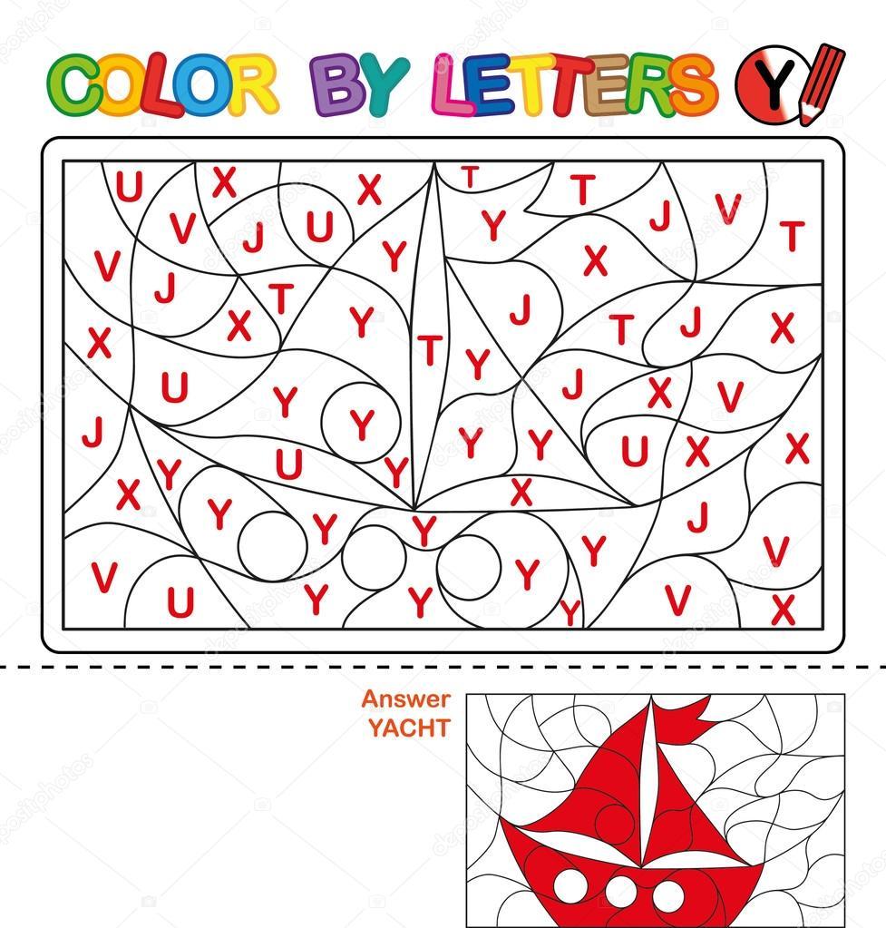 Dibujos Barcos Para Niños A Color Carta De Colores Rompecabezas