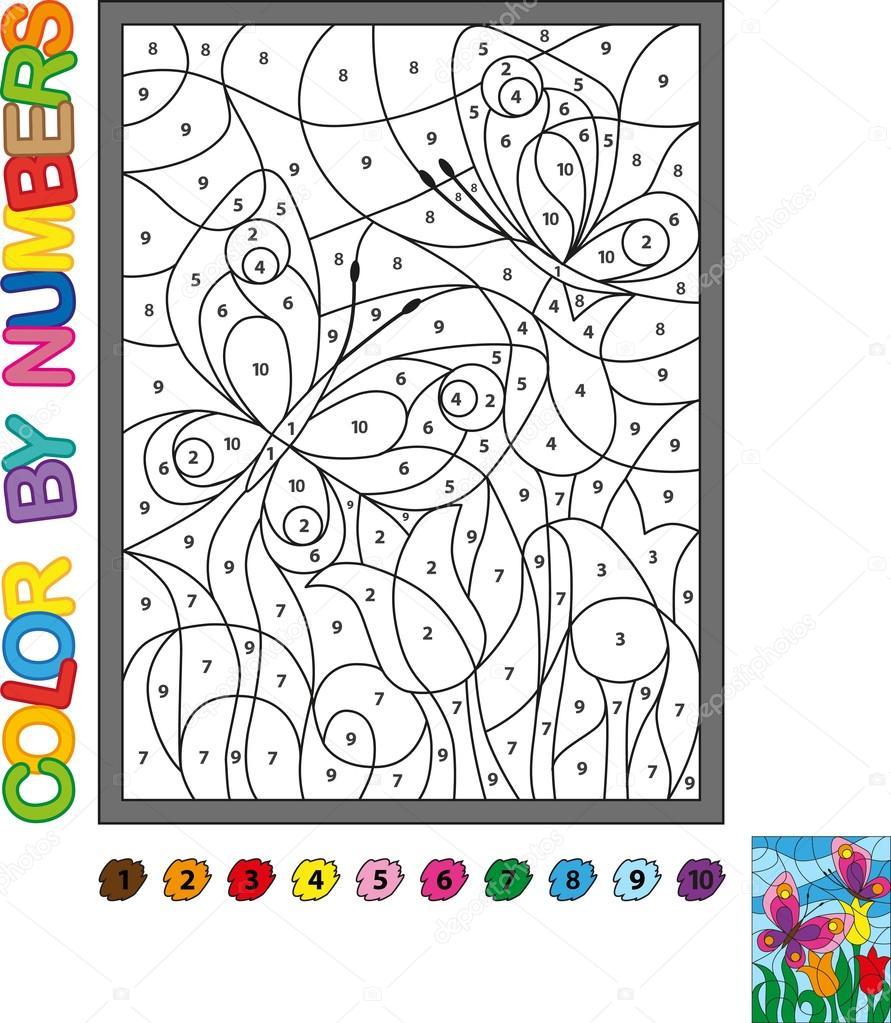 Imágenes Peces Para Colorear Con Numeros Rompecabezas Para Niños