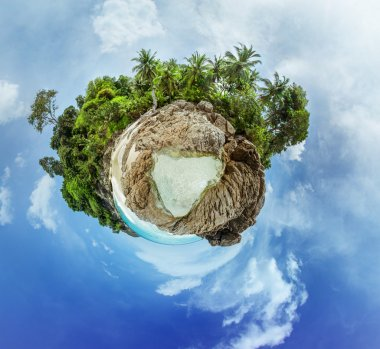 Little planet spherical panorama