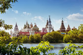 Photo Beautiful russian landscape of Izmailovsky kremlin