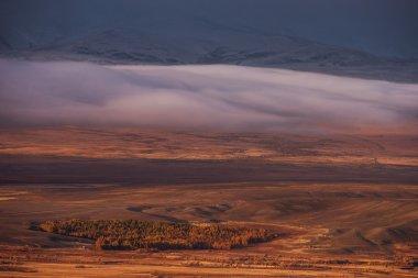Sunrise with clouds landscape