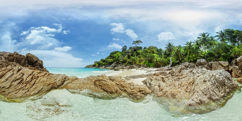 Panorama of tropical beac