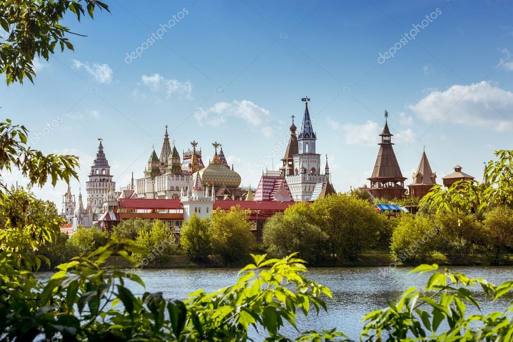 Beautiful russian landscape of Izmailovsky kremlin