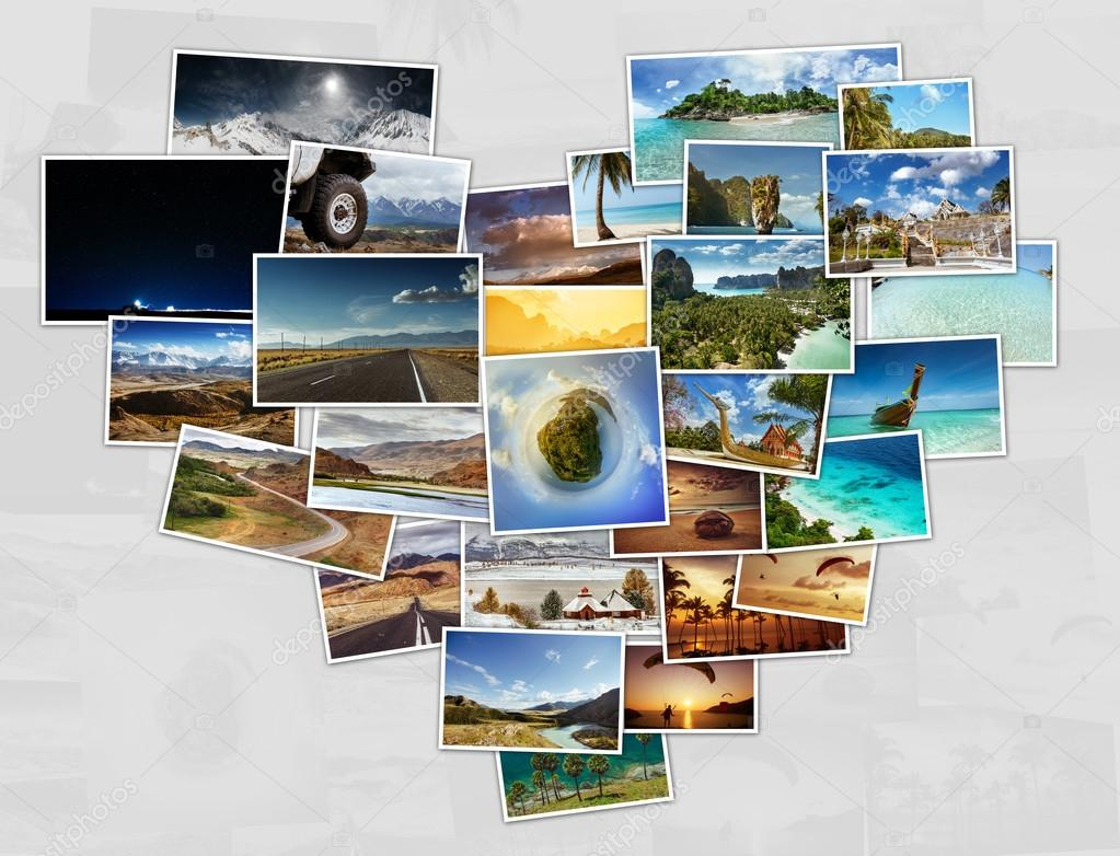 Collage of travel photos