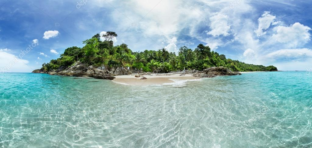 Panorama of a tropical island