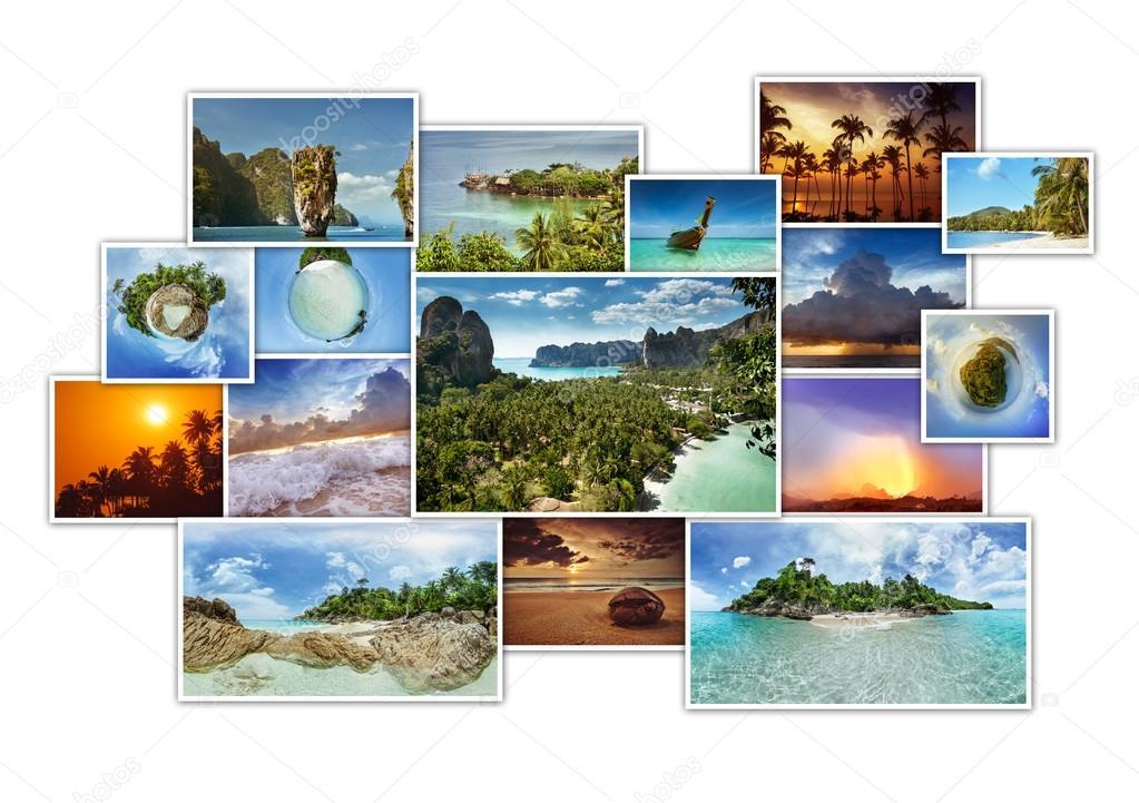 Tropic photos collage