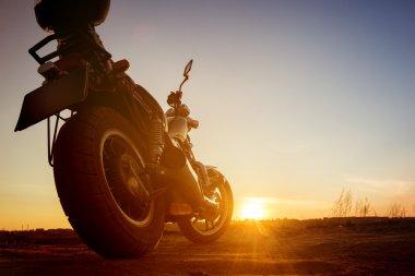 Motorbike on sunset