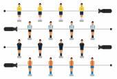 Fotografie Sada stolní fotbal hráče, snadno upravitelné vektorové ilustrace