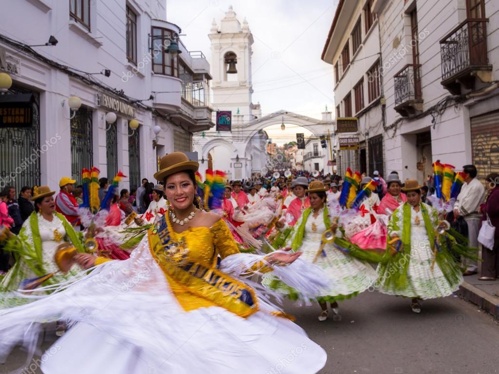 Fiesta De La Virgen Guadalupe En Sucre Foto Editorial De