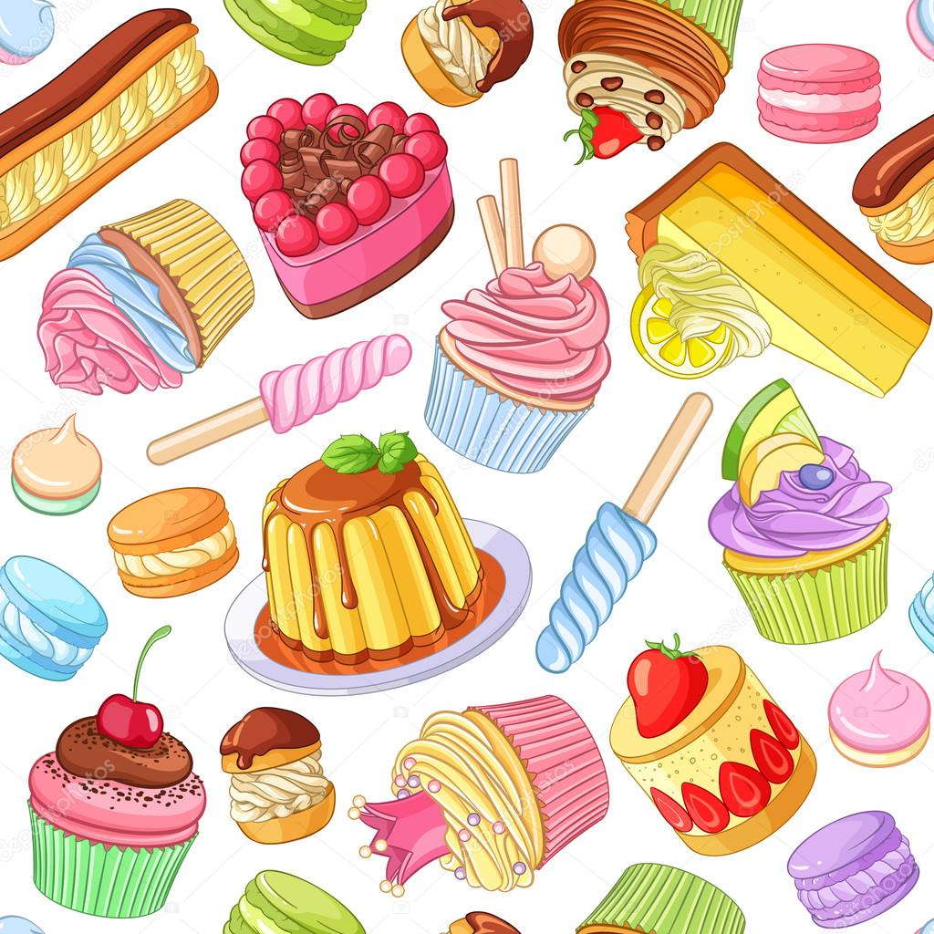 Assorted Cakes And Pastries