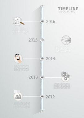 Timeline infographic for business design, reports, step presentation