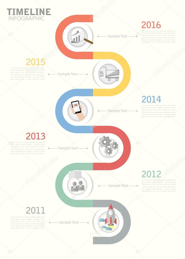Timeline template for business design reports step presentation timeline template for business design reports step presentation stock vector friedricerecipe Choice Image