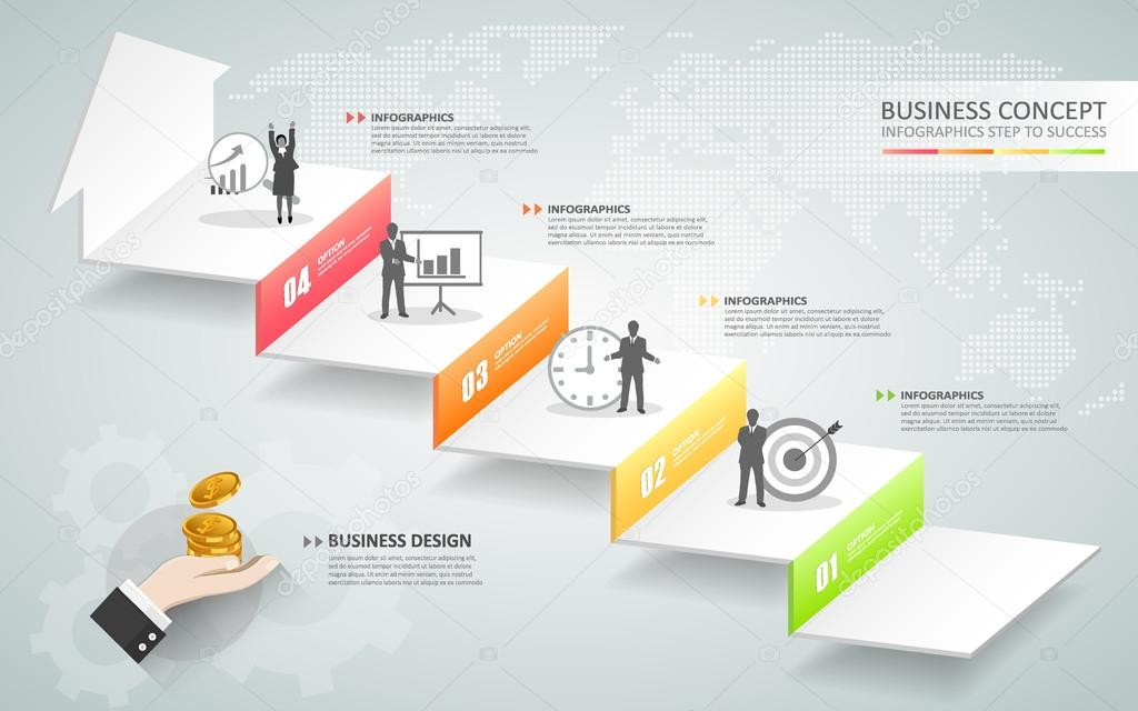 Design business staircase conceptual infographicsn be used for design business staircase conceptual infographicsn be used for workflow layout diagram number ccuart Choice Image
