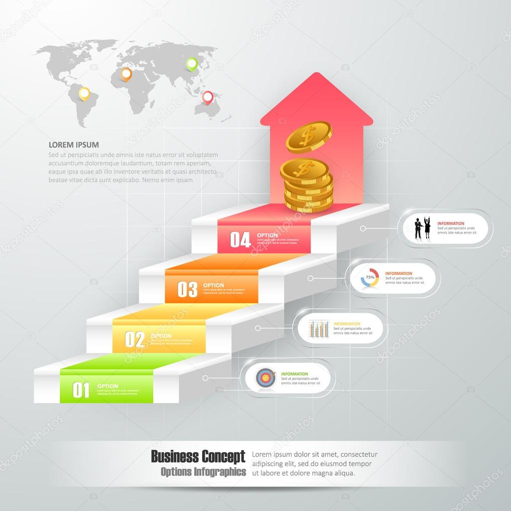 Design business staircase conceptual infographics can be used for design business staircase conceptual infographics can be used for workflow layout diagram number ccuart Choice Image