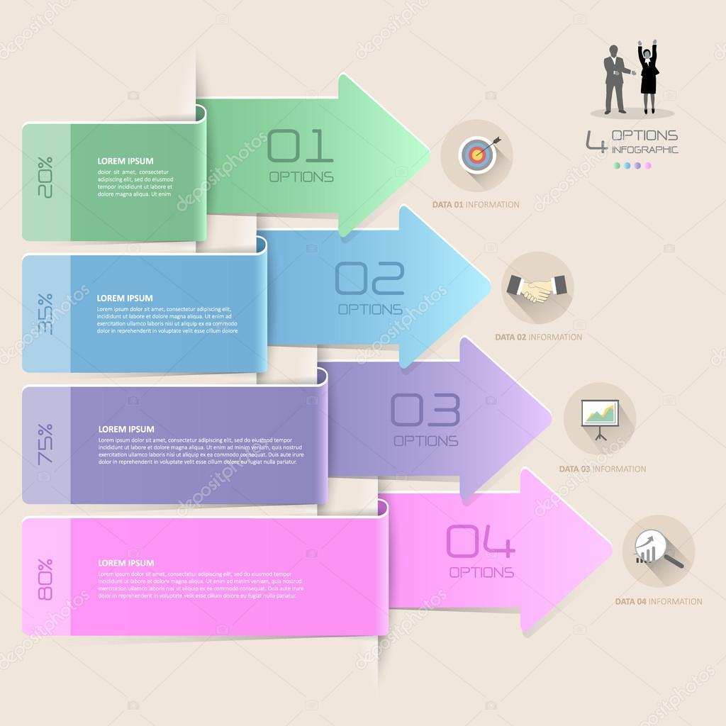 Design arrows infographic template 4 steps can be used for workflow design arrows infographic template 4 steps can be used for workflow layout diagram number options graphic or website layout vetor por onmyespa ccuart Choice Image