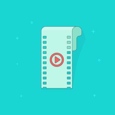 Camera film strip, filmstrip flat icon isolated cinema symbol