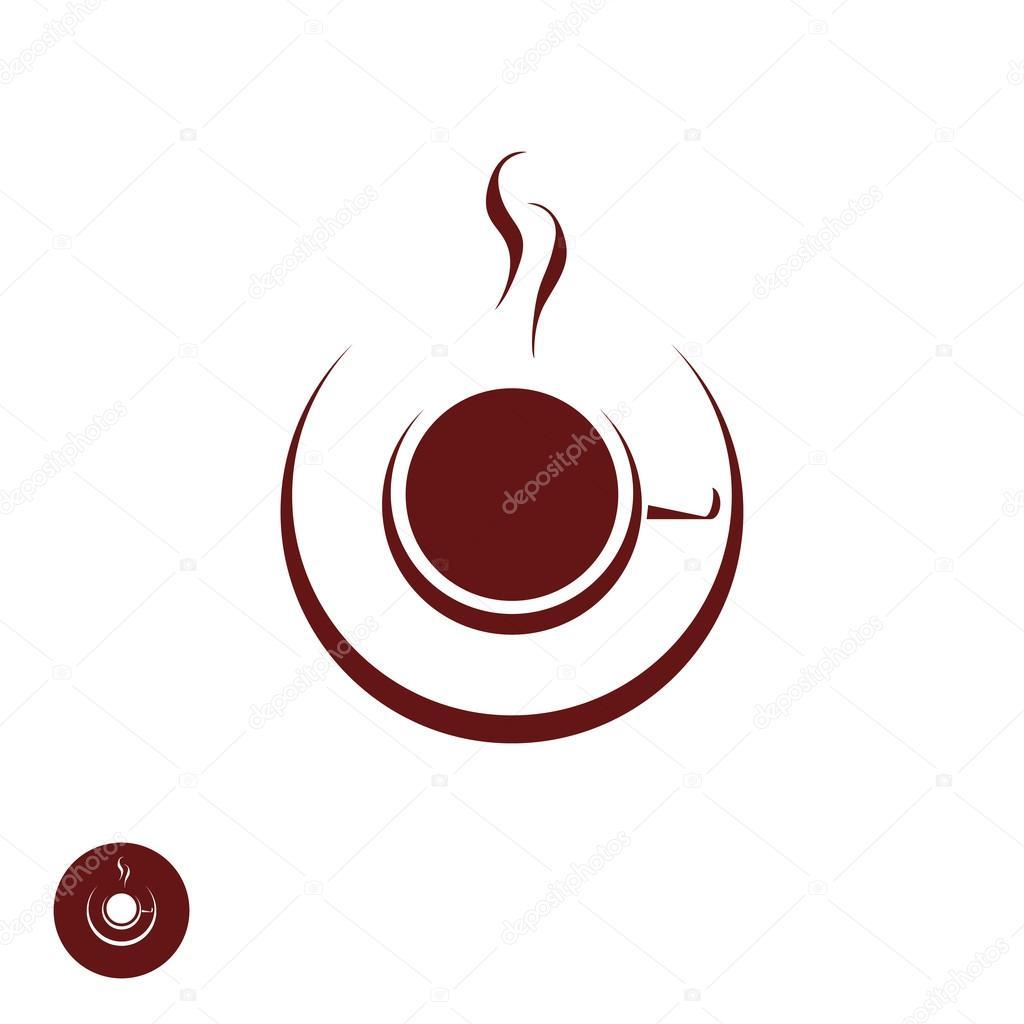 Coffee-Shop-Logo-Vorlage mit abstrakten Dampf — Stockvektor ...