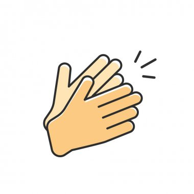 Hands clapping vector icon, applause