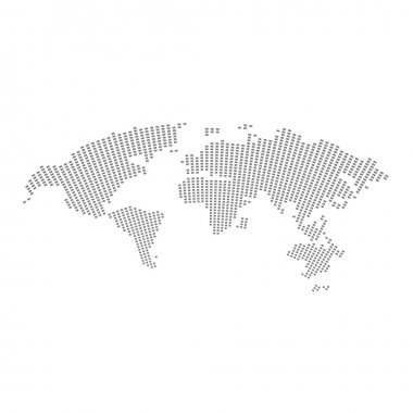 World map vector illustration isolated on white