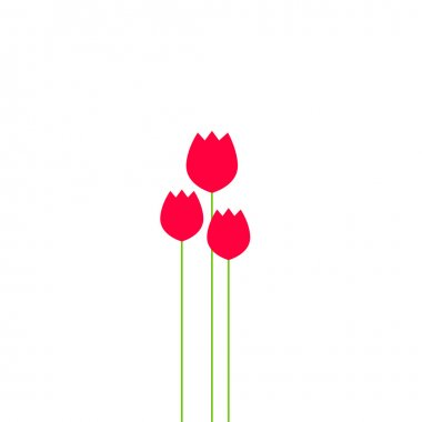 Abstract tulips flowers bouquet vector illustration, beauty bulbs